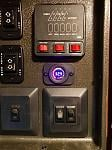 Installed a digital, LED battery voltage meter to know the exact condition of our battery at all times.
