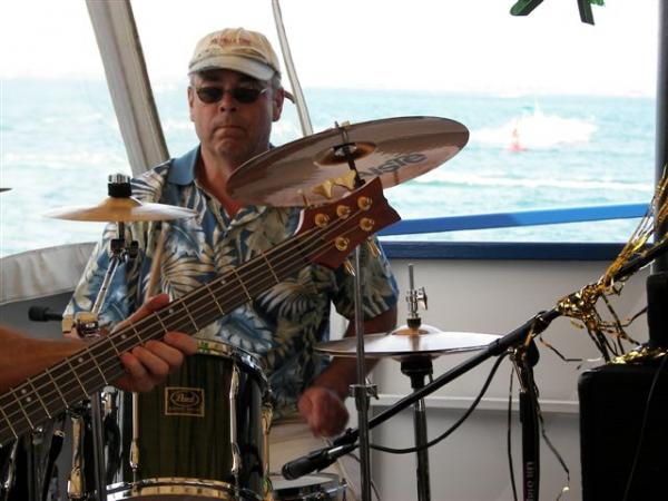 Jamming on Lake St. Clair cruise (Michigan)
