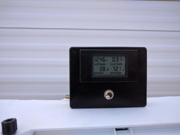 Amperage Meter in use.