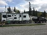 Camping at Blairmore ,Ab. at Lost Lemon Campground.