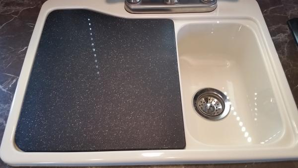 Sink cover/cutting board mod