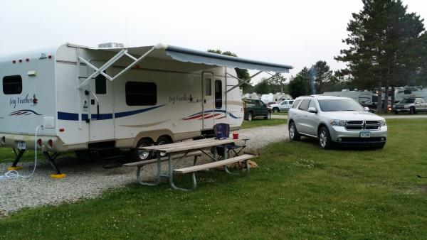 This is our travel trailer, a 2008 Jayco Featherlite, 25F.