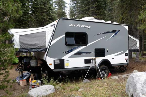 Jayco Feather Alpine Lake Campgrounds - Water Filler experiment Did not work out so well. Back to drawing board.