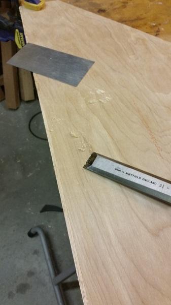 Scrape the back edge band flush