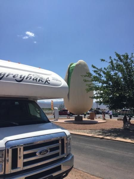 Harvey the RV visits the world's largest pistachio, Alamogordo NM
