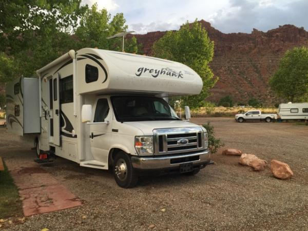 Harvey the RV in Moab Utah.