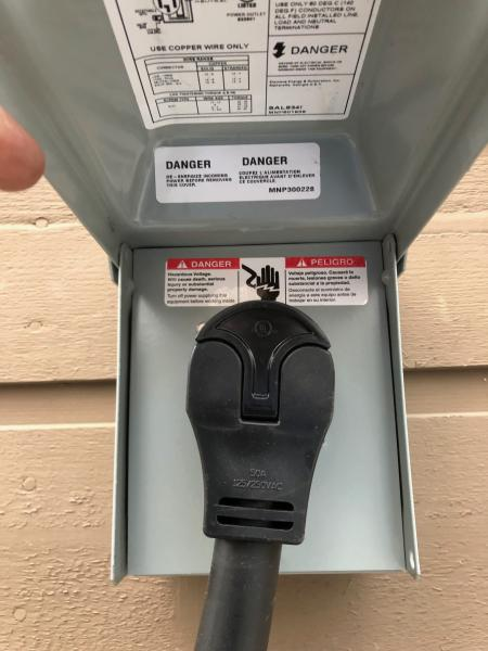 50AMP Home power connection